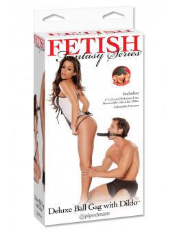 Baillon BDSM avec Gode