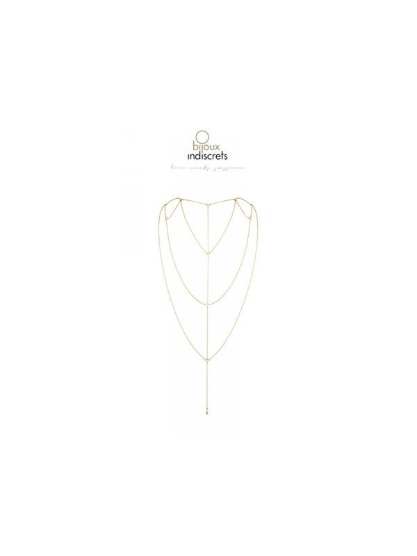 Chaine dos et décolleté dorée - La boutique du plaisir votre Sex-shop