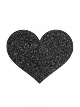 Bijoux de seins Flash Coeur - Noir - La boutique du plaisir votre Love shop - sexshop