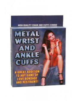 Menottes poignets et chevilles - La boutique du plaisir votre Sex-shop
