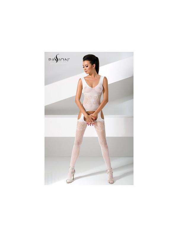 Combinaison BS046 - Blanc - La boutique du plaisir votre Sex-shop