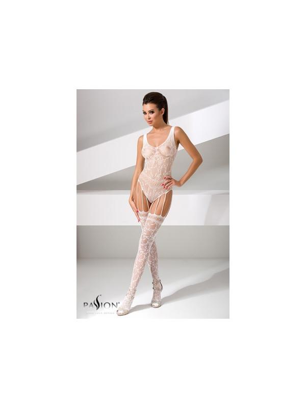 Combinaison BS051 - Blanc - La boutique du plaisir votre Sex-shop