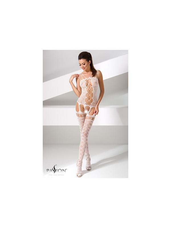 Combinaison BS054 - Blanc - Sex shop la boutique du plaisir