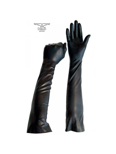 Gants longs BDSM en latex - La boutique du plaisir votre Sex-shop