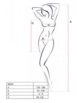 Robe résille BS033 - Blanc - Sex shop la boutique du plaisir