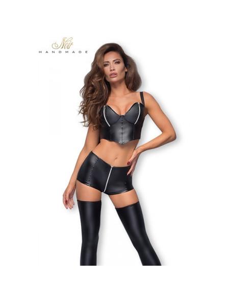 Mini short F164 zip argent - Sex shop la boutique du plaisir