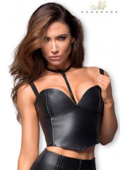 Top faux cuir F170 - Sex shop la boutique du plaisir