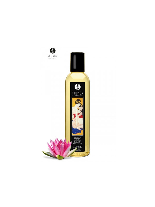 Huile de massage érotique - Coeur de lotus - La boutique du plaisir votre Sex-shop