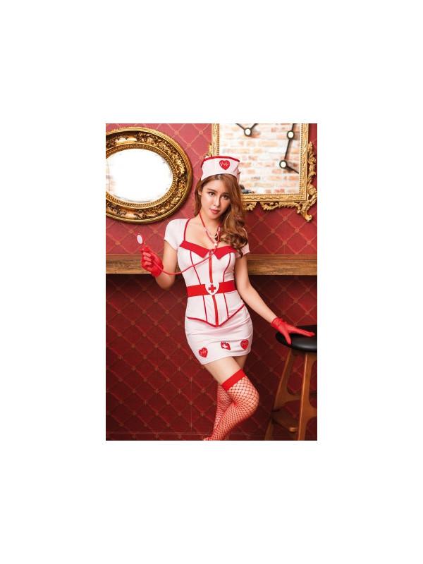 Déguisement infirmière 8 pièces - Sex shop la boutique du plaisir