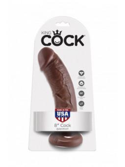 Gode réaliste marron 20 cm - King Cock - La boutique du plaisir votre Love shop