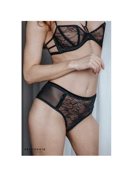 Culotte dentelle et velours - Sex shop la boutique du plaisir